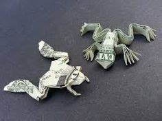 Tree Frog Money Origami Dollar Bill Vincent The Artist - tree frog money origami dollar bill treefrog animal