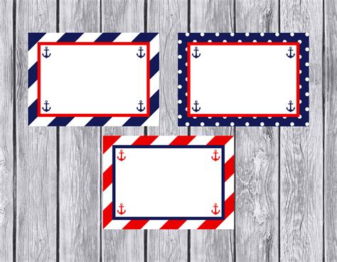 printable nautical labels nautical blank food labels tent style food labels fill in