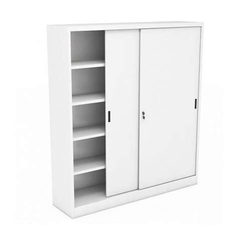 armadietti con ante scorrevoli armadio in metallo ad ante scorrevoli 150x45x200 grigio