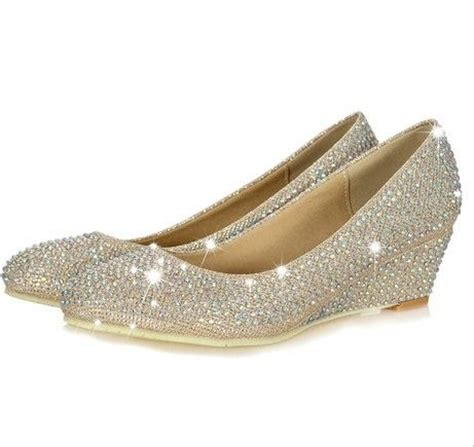The Hotness Jeweled Heels by Best 25 Wedge Wedding Shoes Ideas On Wedding