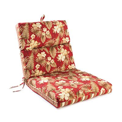 Jules Floral & Stripes Reversible Outdoor Chair Cushion