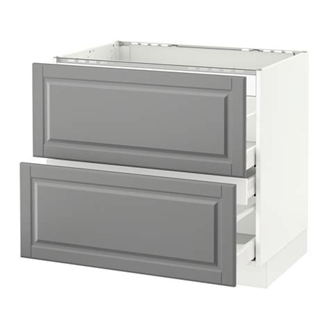 Ikea Cooktop Cabinet sektion base cabinet f cooktop w 3 drawers white ma bodbyn gray 36x24x30 quot ikea