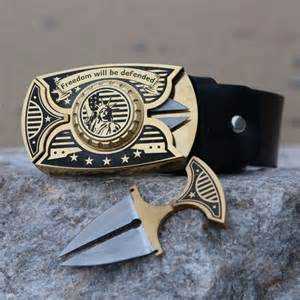 knife buckle buckle knife belt with 2 knives stainless steel buckle
