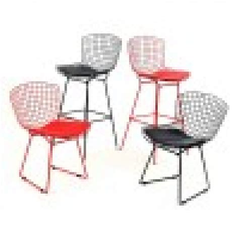 Bertoia Bar Stool Black by Replica Bertoia Barstool Black 2pcs