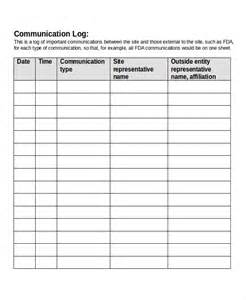 communication record template sle docx file