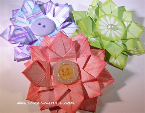Origami Paper Flower Tutorial - the handmade flower paper flowers