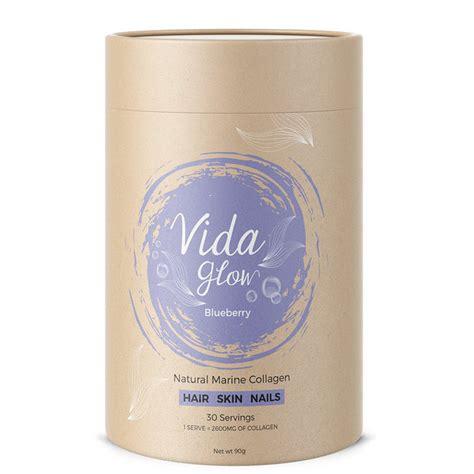 Glow Collagen vida glow marine collagen blueberry nourished