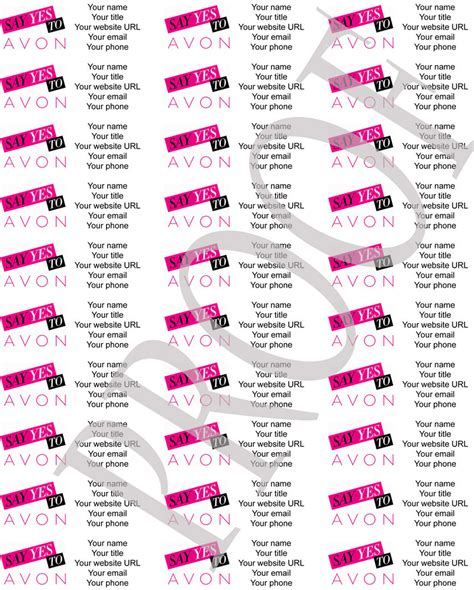 personalized avon brochure labels by labelsforyou on etsy
