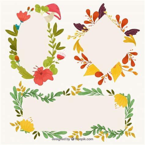 cornici floreali gratis pacchetto colorato di cornici floreali carine scaricare
