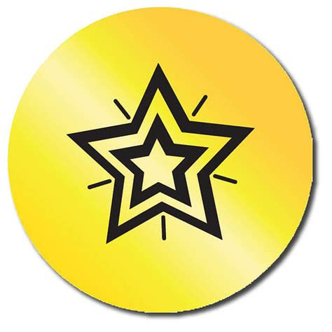 printable gold star stickers customised metallic gold star stickers 35 stickers 37mm