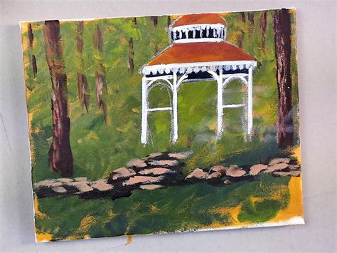 gazebo artist the gazebo part 2 of 5 acrylic painting lessons for