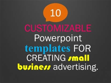 advertising powerpoint templates free 10 customizable powerpoint templates for