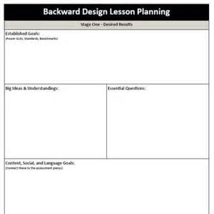 backwards by design lesson plan template 17 images about backwards design on lesson