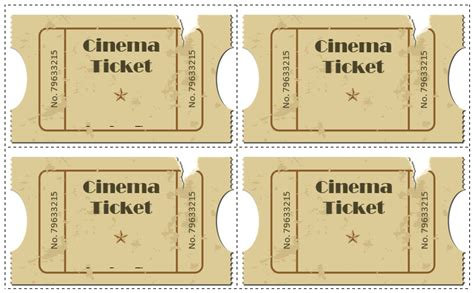 movie ticket template 5 free printable templates word