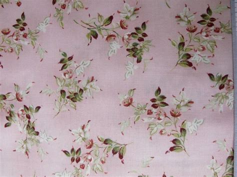 Floral Patchwork Fabric - patchwork quilting fabric pink floral allover cotton