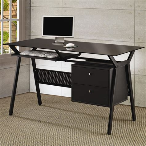 metal and glass office desk desks metal and glass computer desk computer desks with