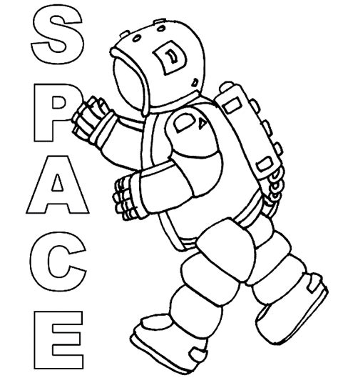 space coloring pages for kindergarten astronaut coloring pages