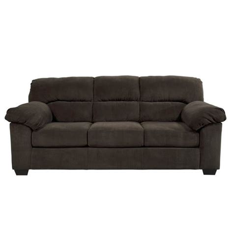ashley loveseat sleeper ashley zorah fabric full size sleeper sofa in chocolate