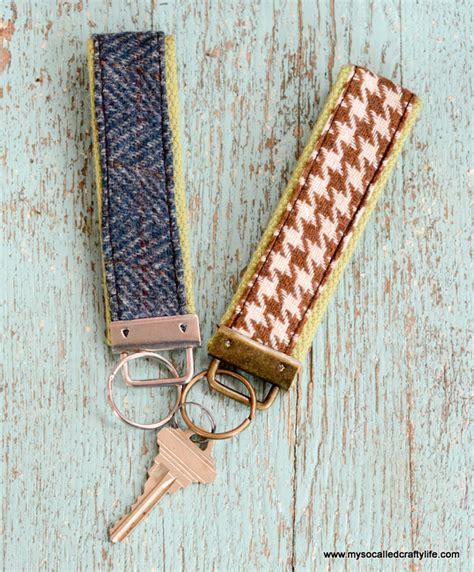 Handmade Fabric Gifts - handmade gifts 2014 diy vintage fabric and webbing key