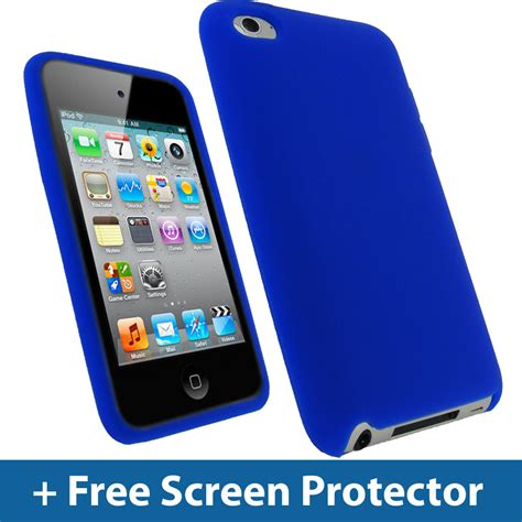 ipod blue blue silicone skin for apple ipod touch 4th 4g 8 32 64gb itouch cover ebay