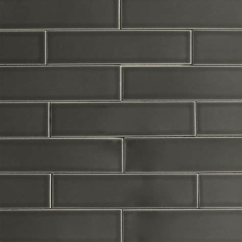 ceramic subway tile carbon gray kiln collection modwalls tile