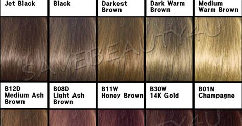 a hair color chart to get glamorous results at home clairol beautiful collection color chart clairol beautiful collection semi permanent color hair