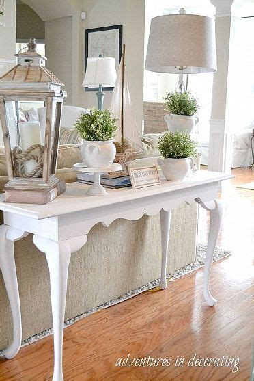 25 best ideas about sofa table styling on