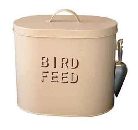 enamel bird feed container my secret garden pinterest