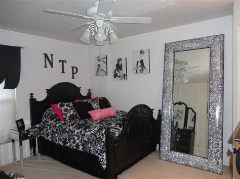 black white and pink bedroom black white and pink bedroom home decor pinterest