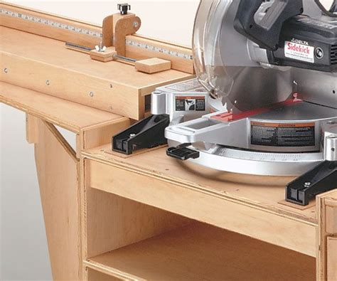 miter saw station woodworking plan pdf woodworking