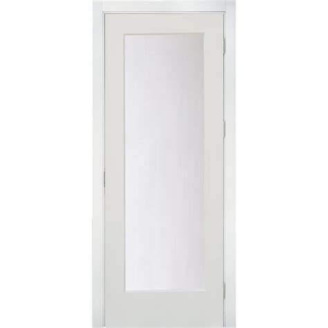 Mdf Interior Door Krosswood Doors 32 In X 96 In 1 Lite Satin Etch Solid Mdf Primed Right Single