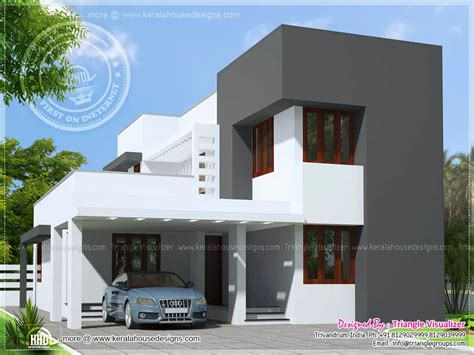 home design modern small august 2015 home kerala plans