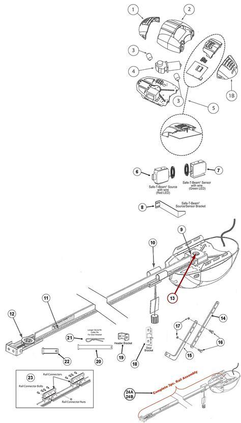 Genie 2022 2024 2042 Garage Door Opener Parts Genie Garage Door Opener Schematic