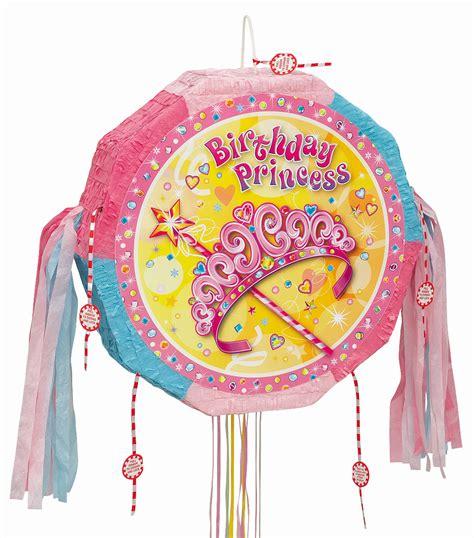 pink birthday princess pinata pull ribbon string pinatas