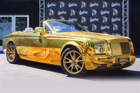 rolls royce gold printed gold chrome drophead wrap wrapfolio