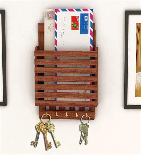 wooden letter rack key holder by home sparkle