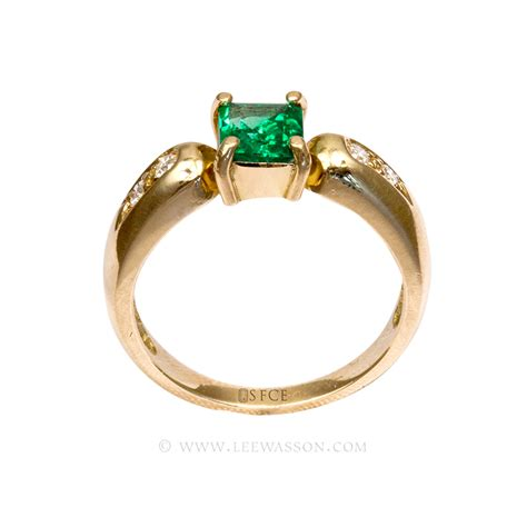 emerald ring emerald engagement ring in 18k