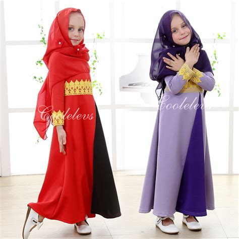 Er Princes Tunik 2016 muslim cotton abaya islamic clothes for children