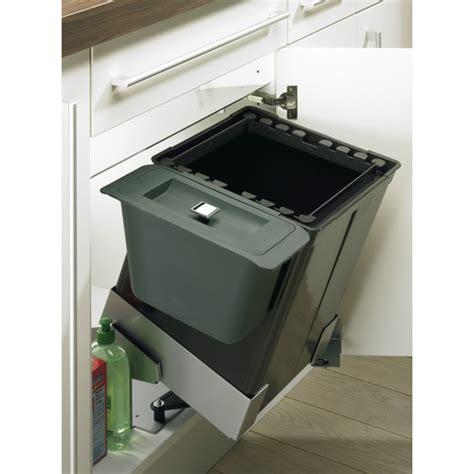 poubelle cuisine sous evier poubelle basculante sous 233 vier bin it ergo 35 l bricozor