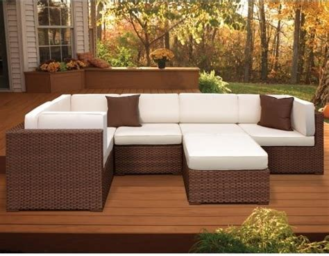 bellagio all weather wicker sectional set seats 6