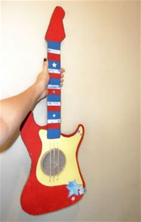 How To Make A Paper Guitar That Works - 1000 images about cardboard crafts on
