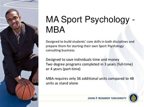 Masters In Psychology With Mba by Jfk Sport Psychology Program