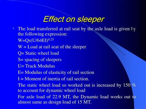 The Sleeper Effect by Ppt Indian Railways Institute Of Civil Engineering Powerpoint Presentation Id 5792989