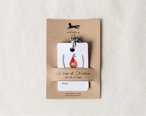 12 days of christmas gift tags 12 days of gift tags wildship studio