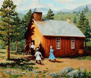 painting of houses 1896 school house painting by mary giacomini
