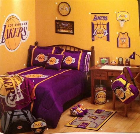 lakers bedroom lakers fan room man caves and fan rooms pinterest
