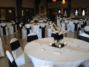 black and silver wedding centerpieces black and white classic wedding colors dominion house