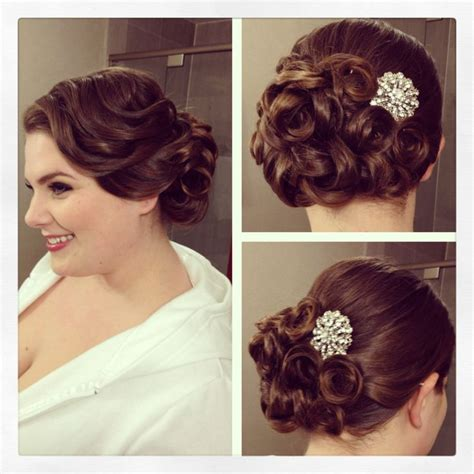 Wedding Hair Up Vintage by Vintage Side Updo Vintage Hairstyle Pin Curls Bridal
