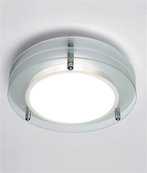 Round Bathroom Light With Layered Glass Pieces   round bathroom light with layered glass pieces