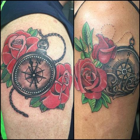 nautical rose tattoo pocket tattoos askideas